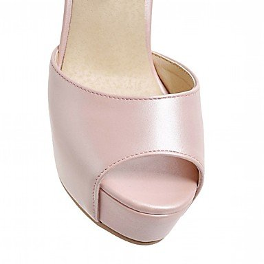 LvYuan Da donna Sandali Finta pelle PU (Poliuretano) Estate Autunno Footing Fibbia A stiletto Bianco Nero Rosa 10 - 12 cm blushing pink