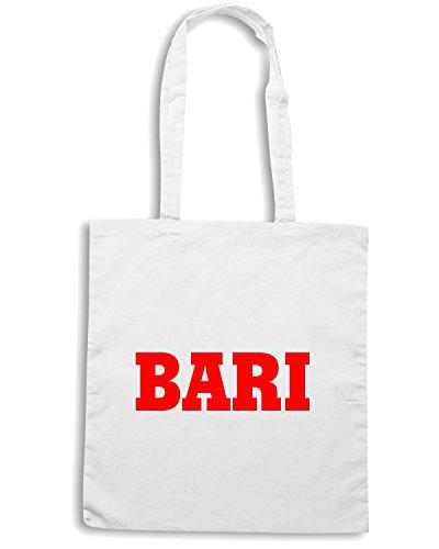 T-Shirtshock - Borsa Shopping WC0873 BARI PUGLIA ITALIA CITTA STEMMA LOGO Bianco