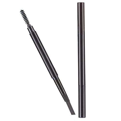 Trillycoler Automatisch Wasserdicht Gedrehte Make Up Stift Eyeline Augenbrauenstift + Pinsel (Licht Kaffee 3#)