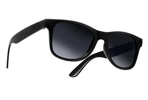 Damen Herren Lesebrille Sonnenbrille +Zip Case +1.5 +2.0 +3.0 +4.0 Slim Sun Readers Perfekt für den Urlaub Retro Vintage Brille MFAZ Morefaz Ltd (+2.5 Sun, Black)
