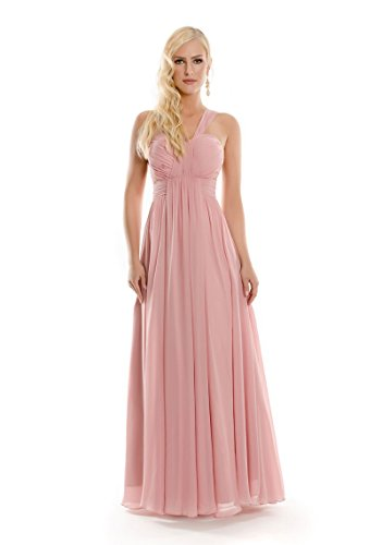 VIP Dress Abendkleid lang / Galakleid Chiffon / Ballkleid in Rosa, Größe 40