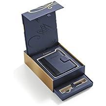 WATERMAN estuche con bolígrafo Carene y bloc de notas, negro lujoso y adornos en oro (1978717)