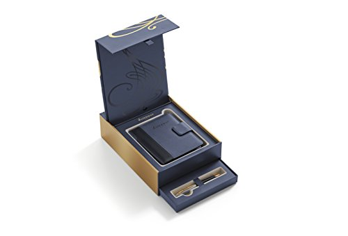WATERMAN Carene confezione regalo con penna a sfera e notebook, nero deluxe con finiture in oro (1978717)