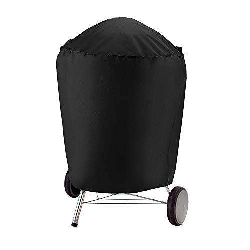 Coperchio parapolvere per griglia esterna, coperchio per griglia per barbecue 75 * 70 cm, griglia per barbecue a gas, copertura per barbecue a gas, copertura tonda per fumo, tela nera