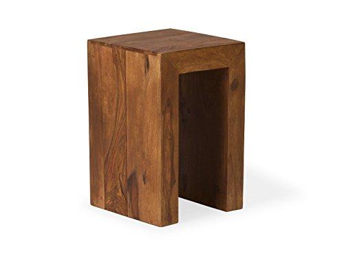 massivum Beistelltisch Cube 30x46x30 cm Palisander braun gewachst