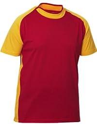 Raglan Bi-Color Kurzarm T-Shirt BROOK der Schwedischen Qualitätsmarke CLIQUE mit geschlitztem Rundhalskragen im Trikotstil und 10 Farben, Grössen S, M, L, XL und XXL