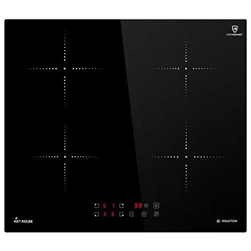 Induktionskochfeld 59cm (Autark, 7kW, 9 Stufen, 4 Zonen, Rahmenlos, Touch, LED-Anzeige) KF5900IND - KKT KOLBE