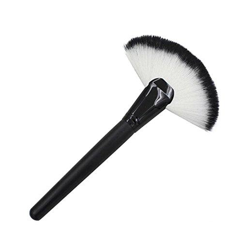 Internet Big Maquillage Grand Fan de chèvre cheveux Blush Poudre pour le visage Fondation brosse cosmétiques