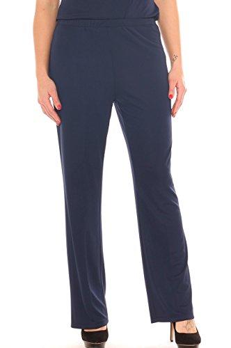 Completo donna caftano fantasia e pantalone in jersey taglia morbida Blu