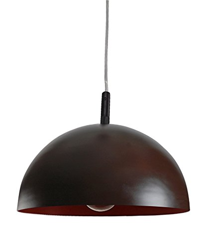Fos Lighting Contemporary Brown Orange Dome Small Pendant Light
