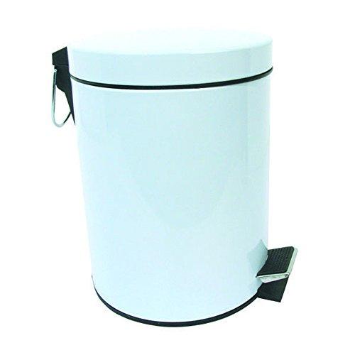 MSV 100015Abfalleimer Metall Polypropylen/Stahl Kohlendioxid weiß 30l