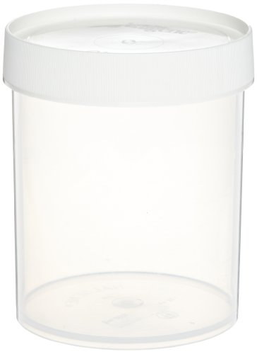 Nalgene 2118-0032 Polycarbonate Straight-Side Wide-Mouth Jars, 1000 mL Capacity, 112 mm O.D. x 151 mm H (Pack of 24) -