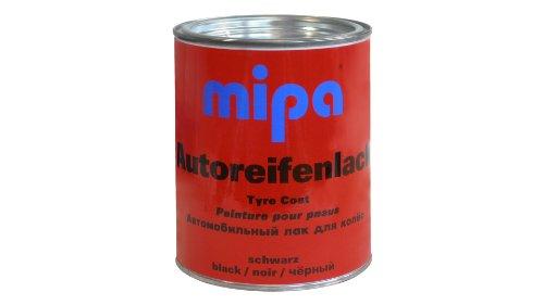 Mipa - Autoreifenlack schwarz (1 Liter)