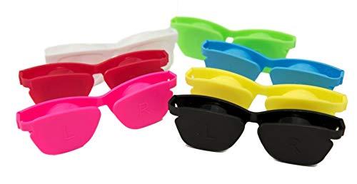 Kontaktlinsen Reisespeicher Flip-Top flach Schutzhüllen Optishade Bulk Buy Box Anzahl 12 Mischfarben