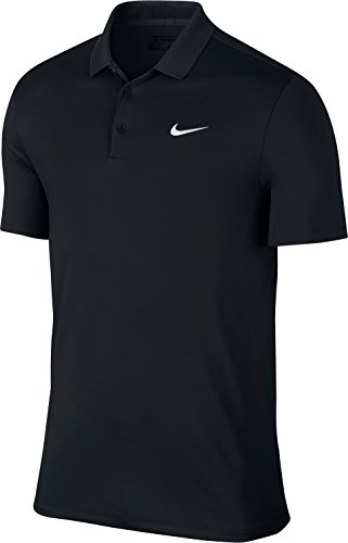 Nike 816341-010 Polo manches courtes Homme Noir/Blanc FR : M (Taille Fabricant : M)