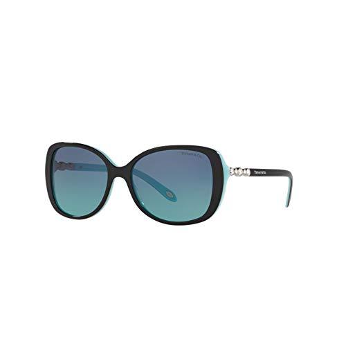 Tiffany 0ty4121b 80559s 55, occhiali da sole donna, nero (black/blue/blueegradient)