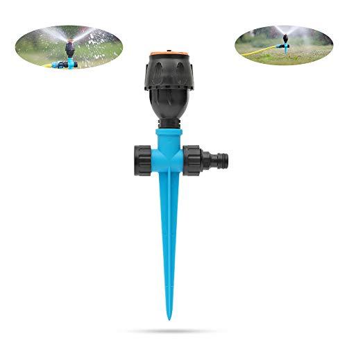 Aspersor de riego rotativo de 360   grados para césped, aspersor de jardín riego de jardín de patio...