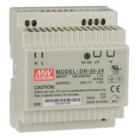 Rail Mount Power Supply (Power Supply, DIN Rail, 30W, 24V, 1.5A dr-30-24By MEAN WELL)