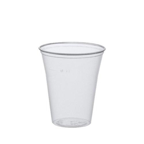 Papstar Trinkbecher/Plastikbecher 0.3l (75 Stück) Ø 9.5 x 11 cm, Polystyrol, transparent mit Füllstrich und Schaumrand, für Ausflüge und Feiern wie Grillfeste und Wanderungen, 16159