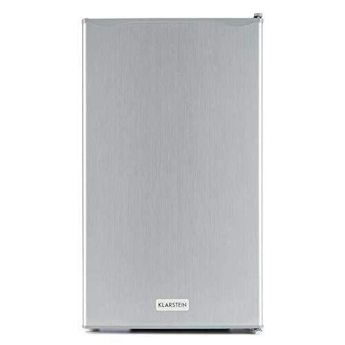 Klarstein Beerkeeper - Réfrigérateur, Compact, Pour les petits ménages, Capacité de 92 litres, Étagères et casiers de porte, Économe en énergie, Bac à légumes, Argent
