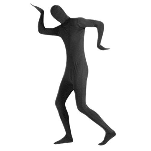 Petalum Herren Damen Hallowenn Ninja Anzug mit Gesichtsmaske Bodysuit Kostüm für Erwachsene Karneval Fasching Cosplay