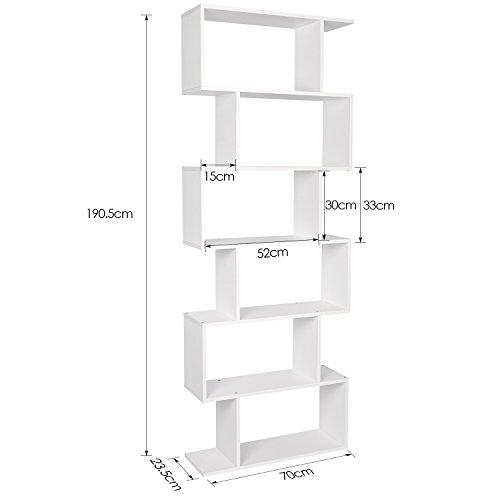 Homfa libreria scaffale mobile ufficio in legno di - Comprare mobili on line ...