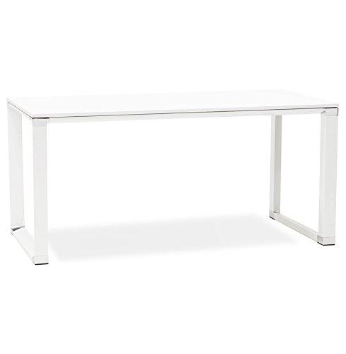 Alterego - Bureau de direction droit design 'XLINE' en bois blanc
