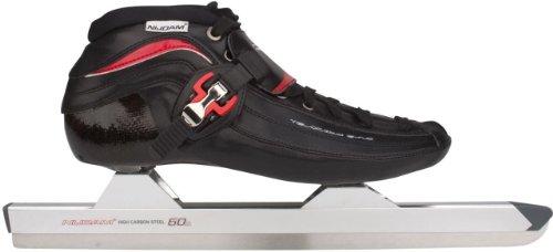 Schreuders sport Nijdam pro-line in low-heat-mouldable Carbon Speed skate, unisex, Nijdam Pro-line, Black/Red/White, Taglia 46