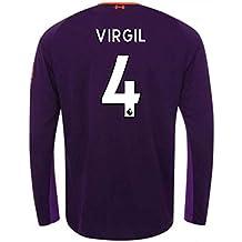 2018-2019 Liverpool Away Long Sleeve Football Soccer T-Shirt Camiseta  (Virgil Van 9592a9fd67a76
