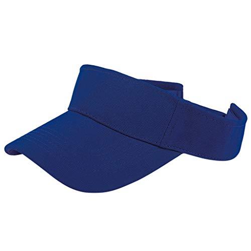 VRTUR Sommer Sunvisor Einheitsgröße Unisex Cap mit Klettverschluss Einstellbar Anti-UV für Reisen Radsport Golf Sport Sonnenschild Visier Kappe Blau - Hüte Urban Cowboy Hüte