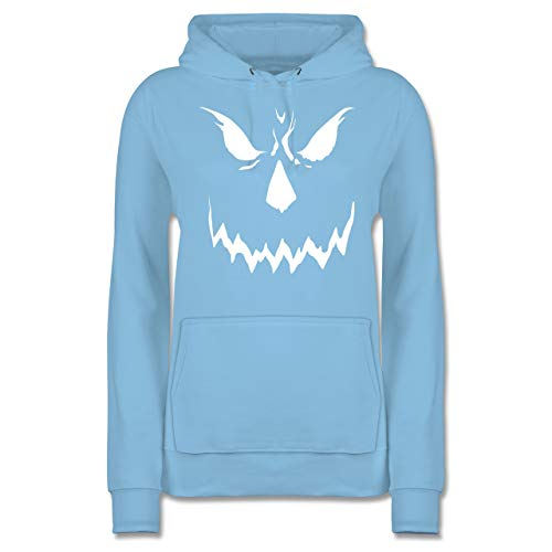 Shirtracer Halloween - Scary Smile Halloween Kostüm - S - Hellblau - JH001F - Damen Hoodie