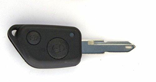 PSA27C - Coque de cle Citroen Saxo - 2 Boutons avec lame crantee