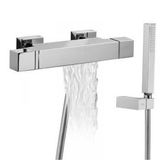 Tres griferia M8910 – Grifo termostatico bañera-ducha cuadro-slim tres cromado 1071749
