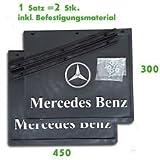 2 x Schmutzfänger 450 x 300 / Spritzlappen / Spritzschutz -LKW Anhänger MERCEDES