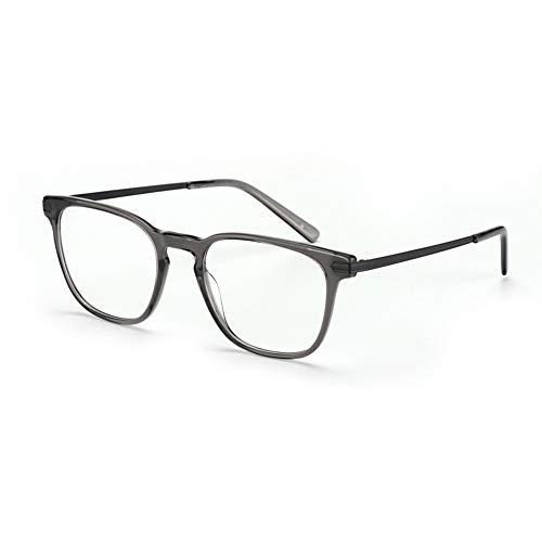 Eyetary Männer Frauen Trendy Klassische Bifokale Lesebrille - Photochromic Sonnenbrillenleser, Flexibel biegbarer Rahmen/Flache Linse/Anti Glare/Vergrößerung 1,0 bis 3,00 Stärke,Darkgrey,+1.0