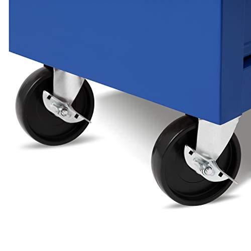 EBERTH Werkstattwagen (5 kugelgelagerte Schubfächer, abschließbar, Antirutschmatten, 4 Räder, Feststellbremse, pulverbeschichtet) - 5