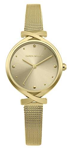 Karen Millen Reloj Analógico para Unisex Adultos de Cuarzo con Correa en Aluminio KM173GM