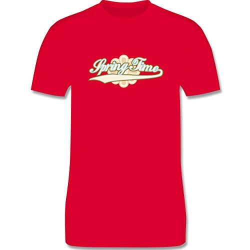 Urlaub - Spring Time - Herren Premium T-Shirt Rot