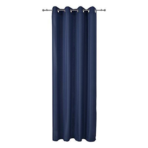 Beautissu tenda protettiva anti-sguardi indiscreti con occhielli - blu serie amelie - 140x245cm - tendina decorativa