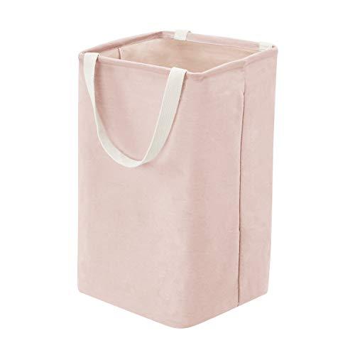 Amazonbasics - contenitore portaoggetti in tessuto, alto, cubico, rosa antico