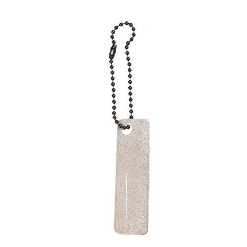 Aeromdale Diamond Stone Sharpener mit Schlüsselanhänger für Fische Haken Finger Nagelfeile (Fisch Haken Sharpener)