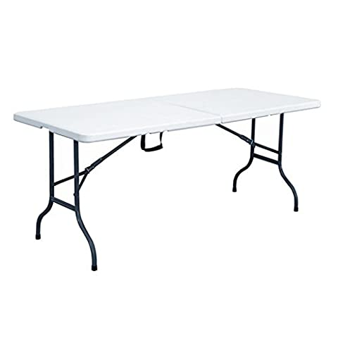 Rekkem Table pliante Blanc/Noir 180 x 75 x 74 cm 101587