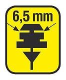 Lampa 19003 Bladex-Plus Coppia Gommini con Rotaia in PTFE, 71 cm, Attacco 6,5 mm