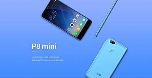 "[Elephone España] Elephone P8 Mini 4G Smartphone 5.0"" Pantalla Android 7.0, 4GB + 64GB 16MP Cámara Frontal con Beautify Selfie 13+2MP Cámara Trasera Dual Huella Digital ELE-P8MN-A"