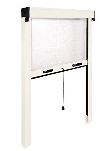 Zanzariera avvolgibile in alluminio modello sottile per finestra cm 120 x 170 riducibile bianco