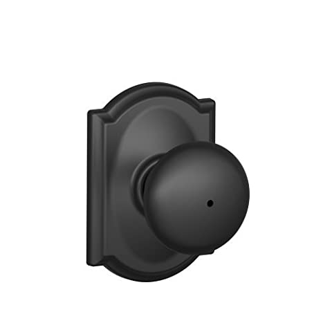 Schlage F40 PLY 622 CAM Camelot Collection Plymouth Privacy Knob, Matte Black by Schlage Lock