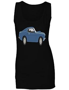 Deportes divertidos del vw de la novedad del coche del vintage camiseta sin mangas mujer a704ft