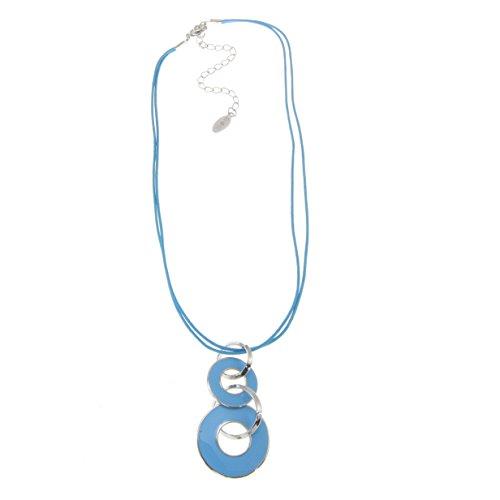 �em elegantem Anhänger - Hochwertige designer Kette - Designer Modeschmuck - hellblau (Designer Modeschmuck)