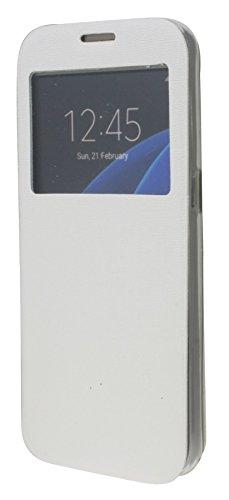Energmix® Flip-Cover Tasche Hülle mit Sichtfenster für das für IPHONE 6 / 6S in Schwarz Wallet Book-Style Case Schale Etui Bag Zubehör @ Energmix Weiá