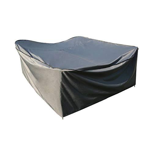 Etui Coque arriere pour table carrée | gris | 180 x 180 x 90 cm (L x l x H) | imperméable | Sorara Polyester.